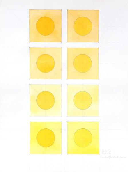 Yellow Circles Art   Courtney Miller Bellairs Artist