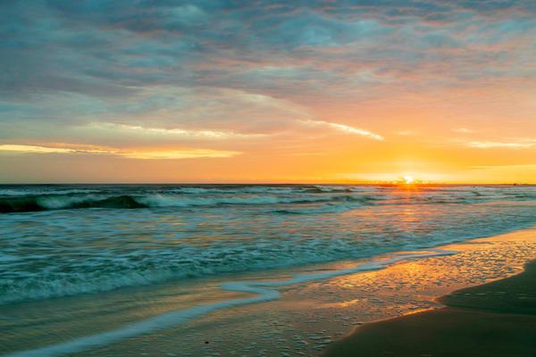 Golden Hour On The Beach Photography Art | Willard R Smith Photography