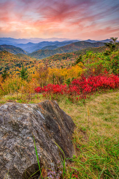 Huckleberry Autumn Photography Art | Red Rock Photography