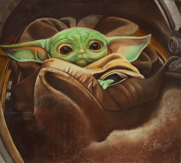 """Baby Yoda"" fine art print by Emily Willey."