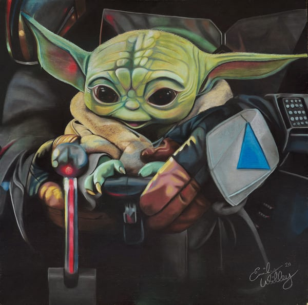 """Can I Fly Dad?"" fine art print by Emily Willey."