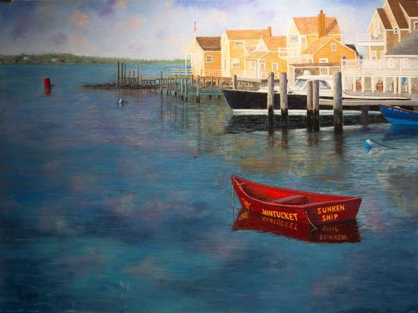 Nantucket Harbor   Original Art | Mark Grasso Fine Art