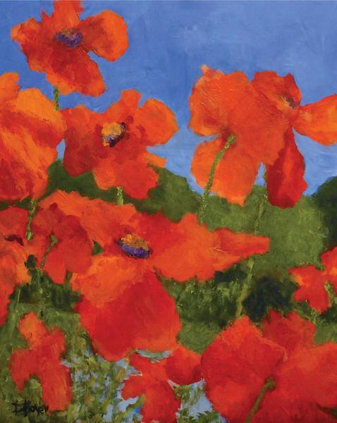 Poppiesnearthemarshnoborder Art   Dawn Boyer Fine Art