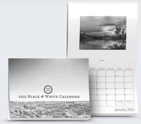 2021 Black and White Fine Art Calendar | Nathan Larson Photography