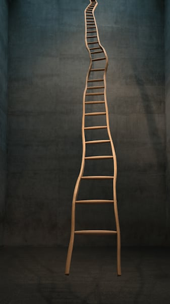 Ladder To No Where Art | Thriving Creatively Productions