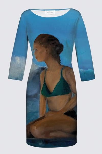 Surfer Jeanne Dress Designed by Artist