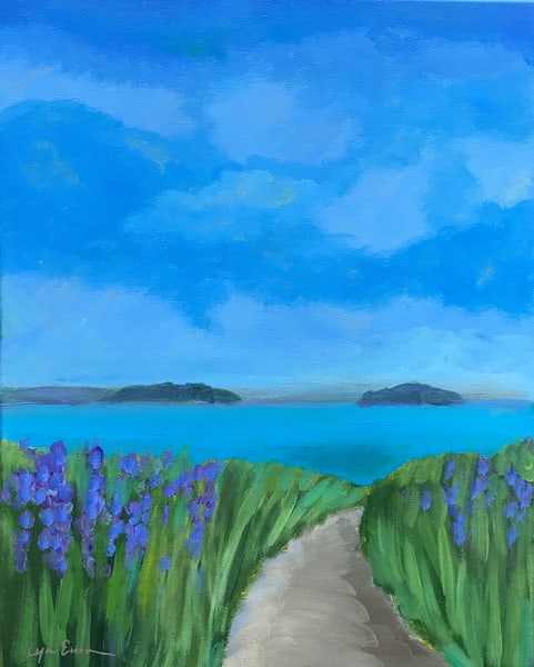 Blue Day At The Beach Art | lynnericson-fine-art.com