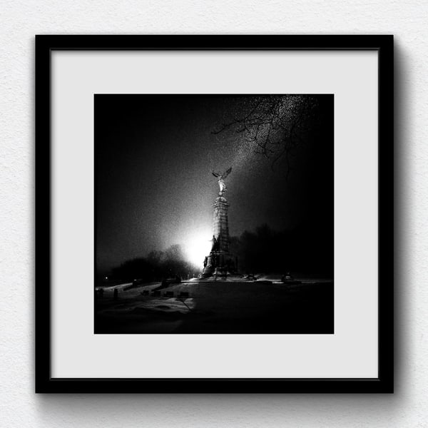 Ange nº36 (2018) - Winter is stunning (printed, signed and framed by the artist
