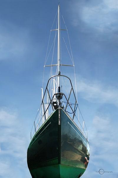Flying Green Sail Boat