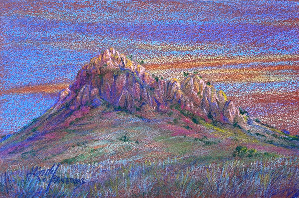 Lindy Cook Severns Art | Wild Rose Pass, original colored pencil
