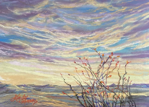 Lindy Cook Severns Art | Stretching to Greet Sunrise, original pastel