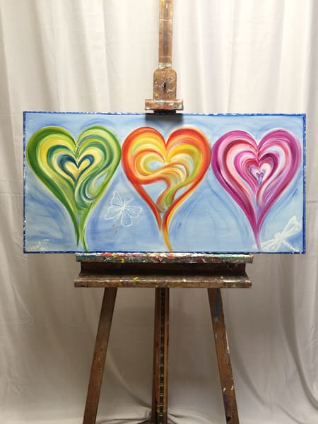 Loves Flight In Blue  Art | Heartworks Studio Inc