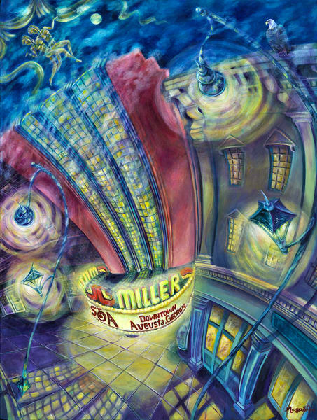 Mysterious Miller Theater Art | Digital Arts Studio / Fine Art Marketplace