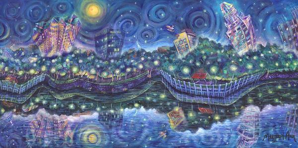 Starry Night Over The Savannah Art   Digital Arts Studio / Fine Art Marketplace