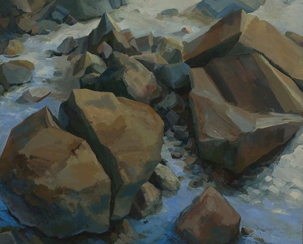 Rocky Beach Painting Series