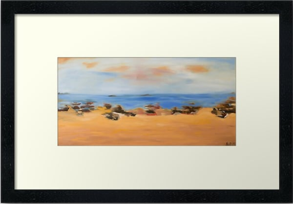 Framed Art Print Ocean Beach