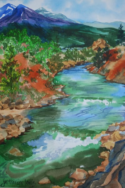 Arkansas River, Buena Vista | Jan Thoreen Lewis Fine Art