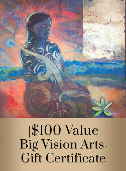 Bva Gift Cert 100 Art   Big Vision Art + Design