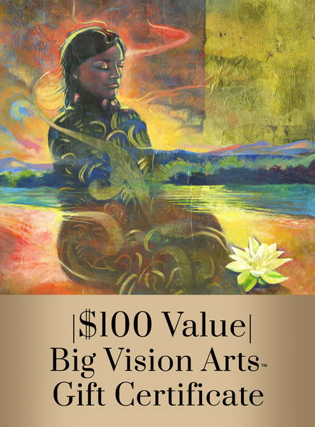 Bva Gift Cert 100 Copy Art   Big Vision Art + Design