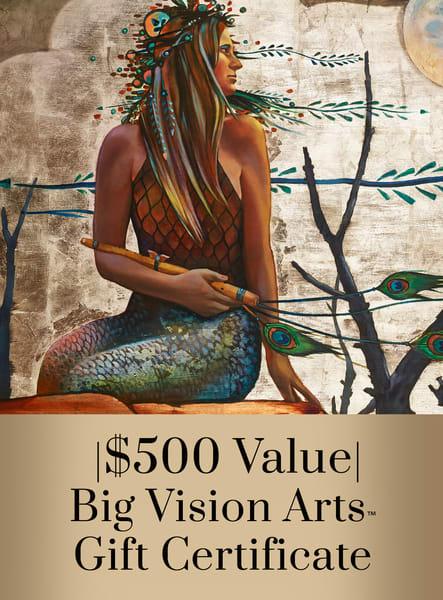 Bva Gift Cert 500 Art   Big Vision Art + Design