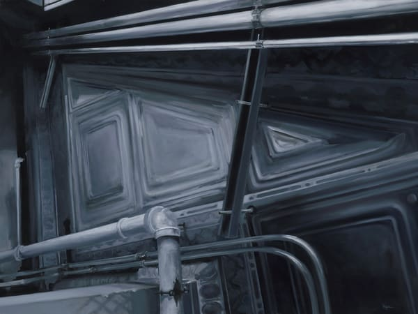 Cherry&Webb 01 - Ceiling. Original oil painting by Kim Gatesman.