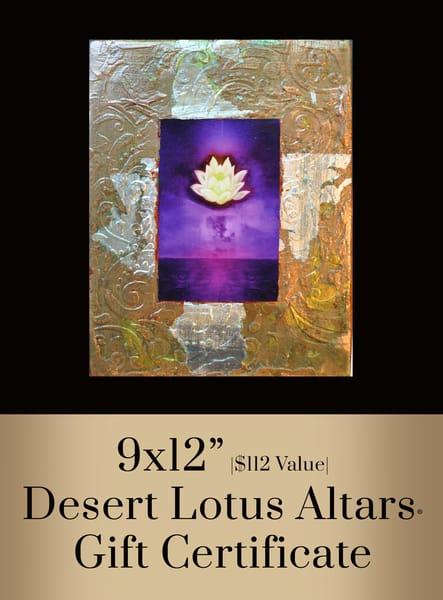 Desert Lotus Altar® Gift Certificate  9x12 | Big Vision Art + Design