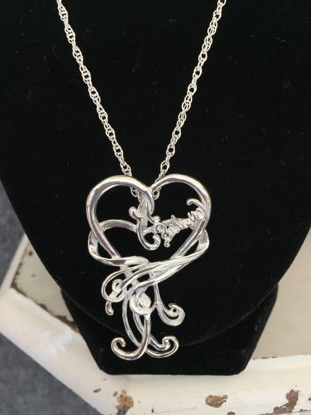Believe Silver Pendant Necklace Art | Heartworks Studio Inc
