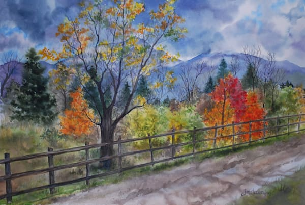 Going Home On A Country Road | Jan Thoreen Lewis Fine Art
