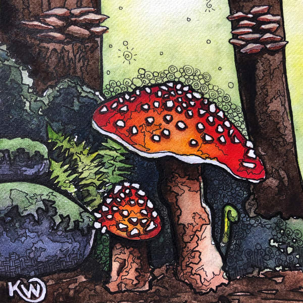 Shrooms Art | Water+Ink Studios
