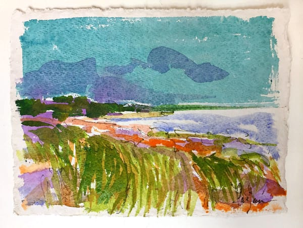Marsh Painting, Original Watercolor by Dorothy Fagan