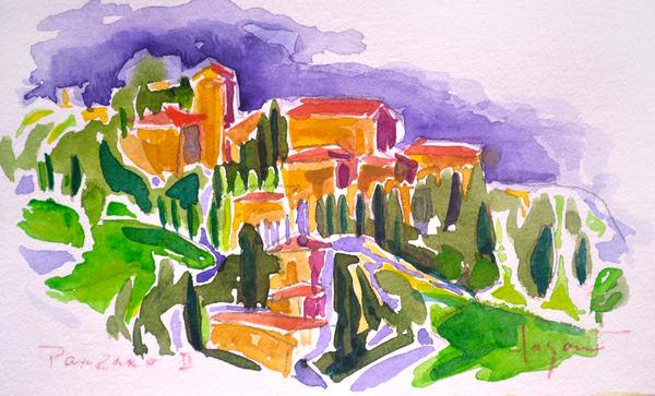 Panzano Italy Watercolor Painting by Dorothy Fagan