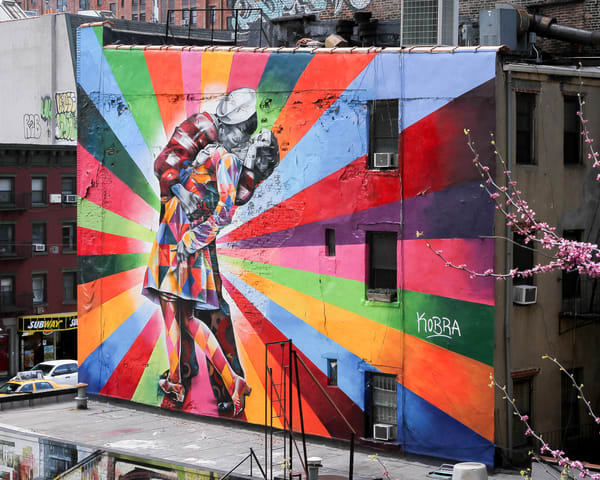 View Of Graphic Nyc Art From The High Line | Julie Williams Fine Art Photography