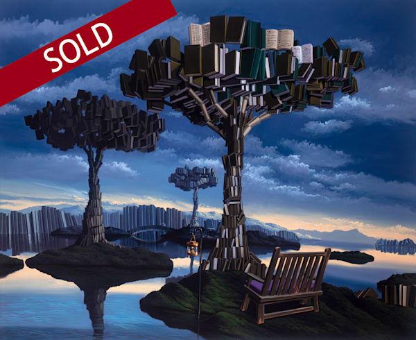 Tree Of Knowledge (110x90cm) Art | Moshe Volcovich