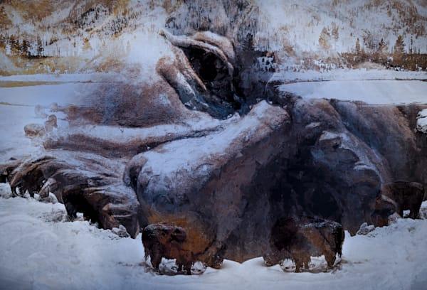 Old Man & The Bison Art | R.j.Ricci Art
