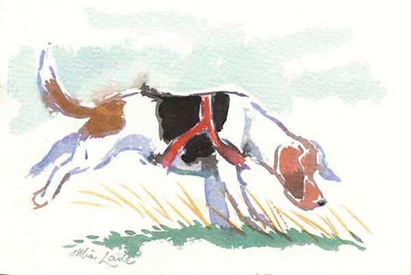 Beagle On A Trail  Original Water Colour Framed Art | Mia Lane