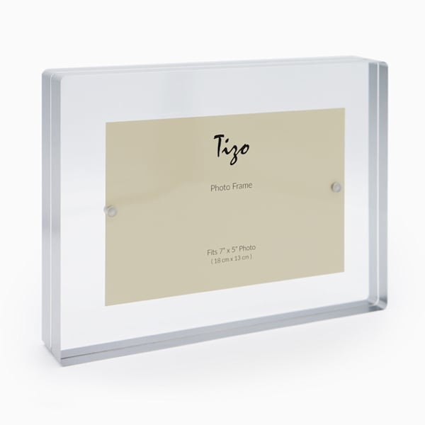 5x7 Silver Acrylic Block Frame