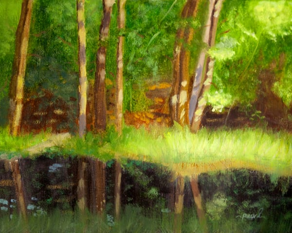 By The Pond Art   Pearl White Studio