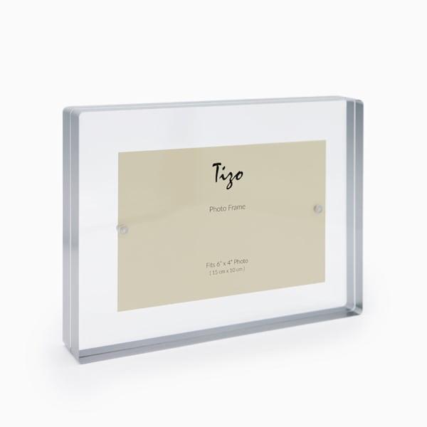 4x6 Silver Acrylic Block Frame