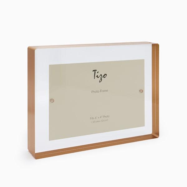 4x6 Gold Acrylic Block Frame