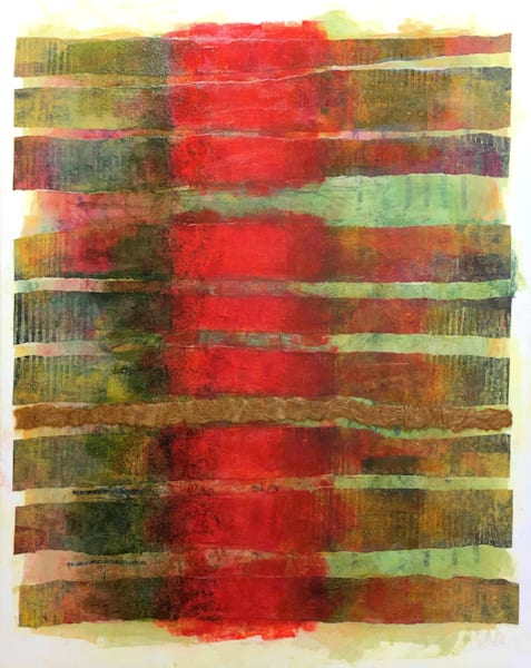 Ribbons and Spaces - Original Abstract Painting | Cynthia Coldren Fine Art