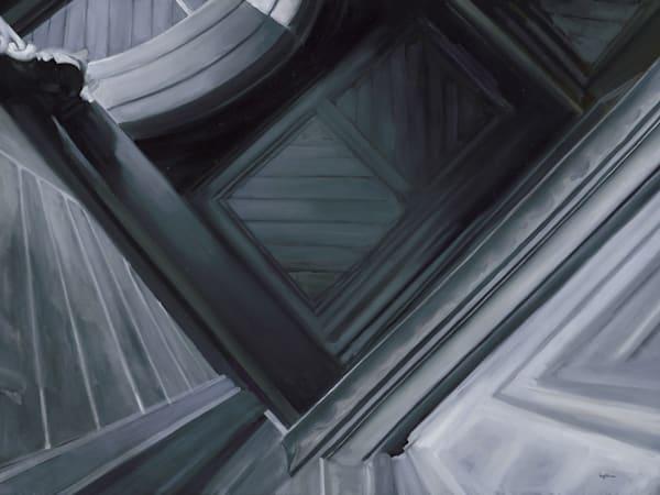 Academy Building 02 - Doorway. Original oil painting by Kim Gatesman.