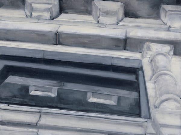Capital Theater Facade. Original oil painting by Kim Gatesman.