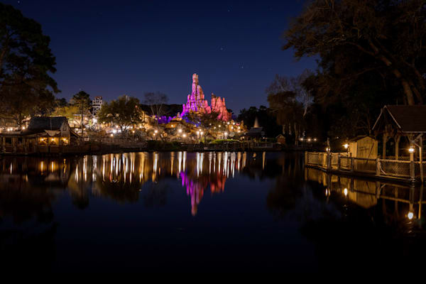 Big Thunder Mountain Reflections At Night Photography Art | William Drew Photography