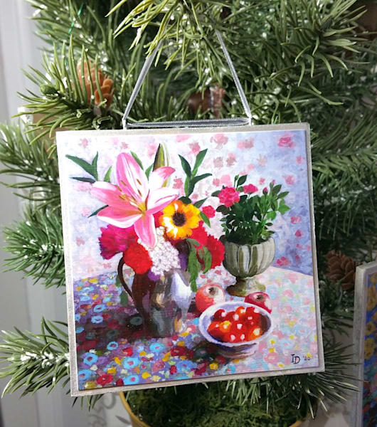 Ornament   Still Life With Pink Lily And Tomatoes | smalljoysstudio