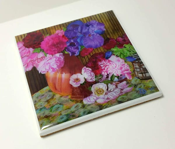 Coaster (Hand Made)   Still Life With Anemonies | smalljoysstudio