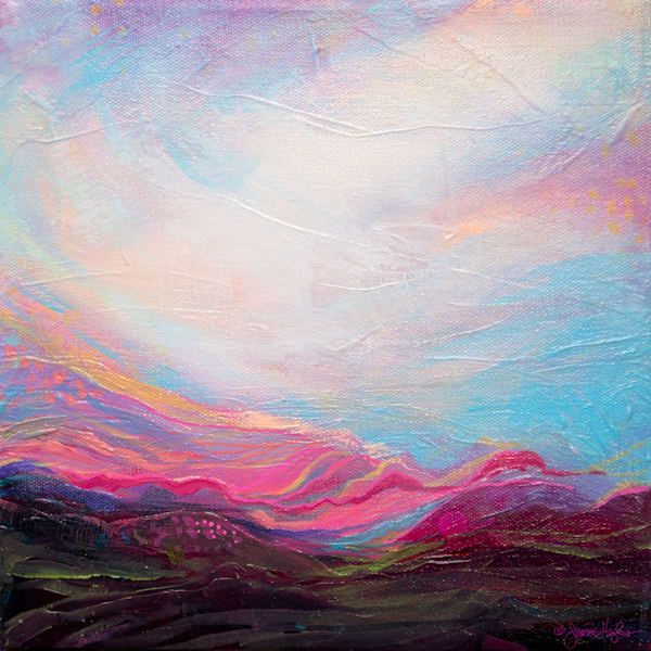 Distant Memories, Original Painting Art   Jessica Hughes Fine Art