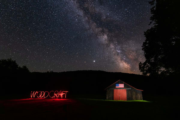 Camp Woodcraft Barn With Name Photography Art | Kurt Gardner Photogarphy Gallery