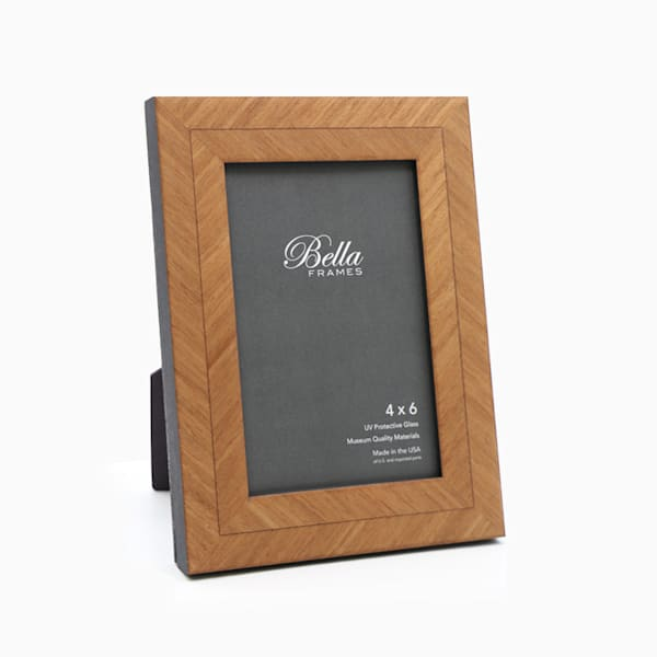 4x6 Pecan Herringbone Photo Frame