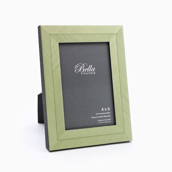 4x6 Green Herringbone Photo Frame