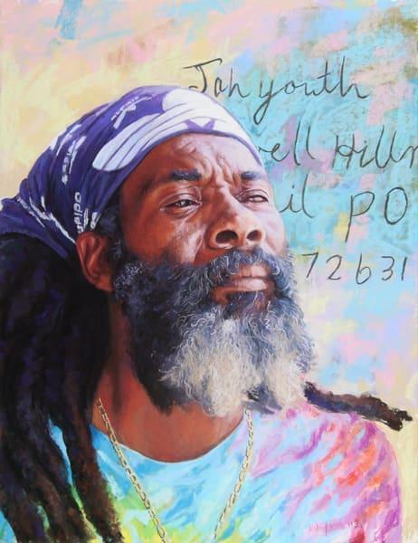 Jah Youth Strikes A Pose  Art   Waif Mullins Art
